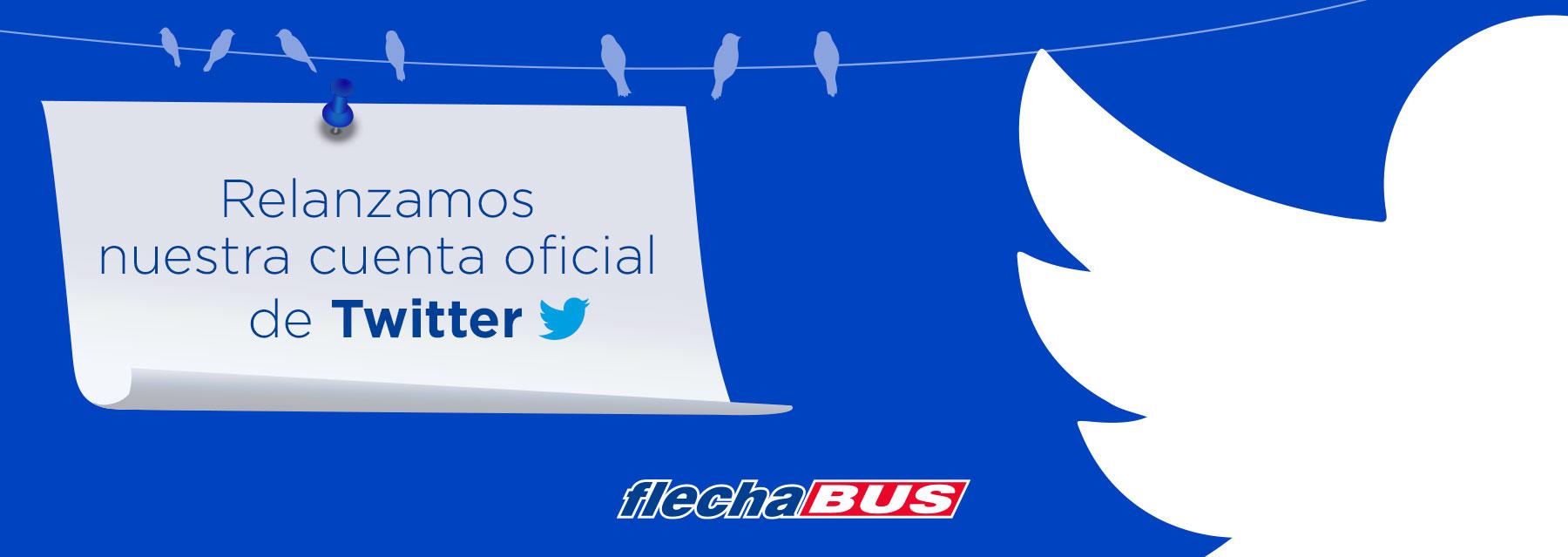 Relanzamos nuestra cuenta oficial de Twitter Flecha Bus