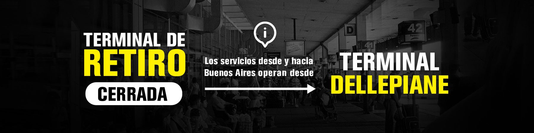 Terminal dellepiane terminal retiro cerrada viajar micro argentina Flecha Bus